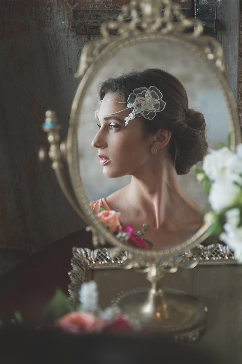 Vintage Bride Getting Ready - Romantic , Edwardian Inspired Vintage Wedding Ideas