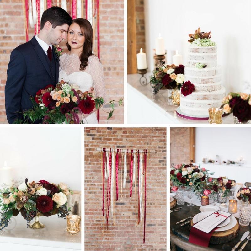 A Stunning Marsala Wedding Inspiration Shoot