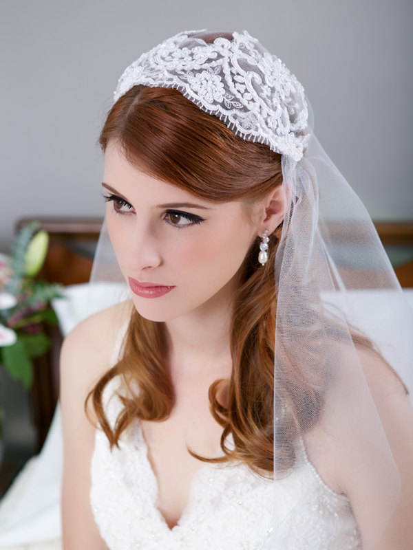 Juliet Cap Veil from Gilded Shadows