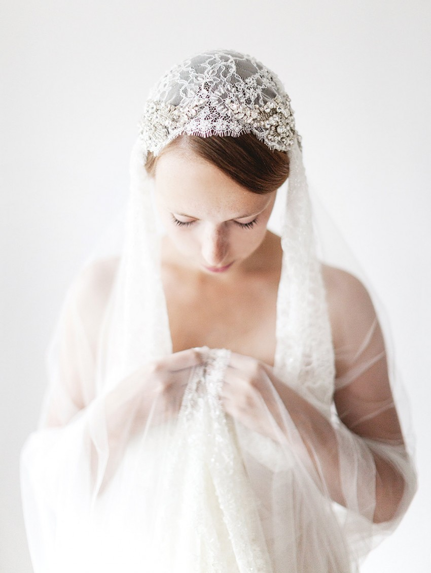 Juliet Cap Veil from Sibo Designs