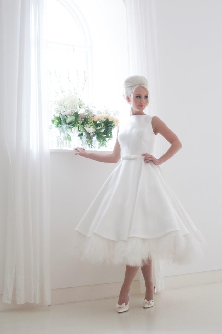 Eliza Tea Length Wedding Dress From House Of Mooshki S 2016 Bridal Collection