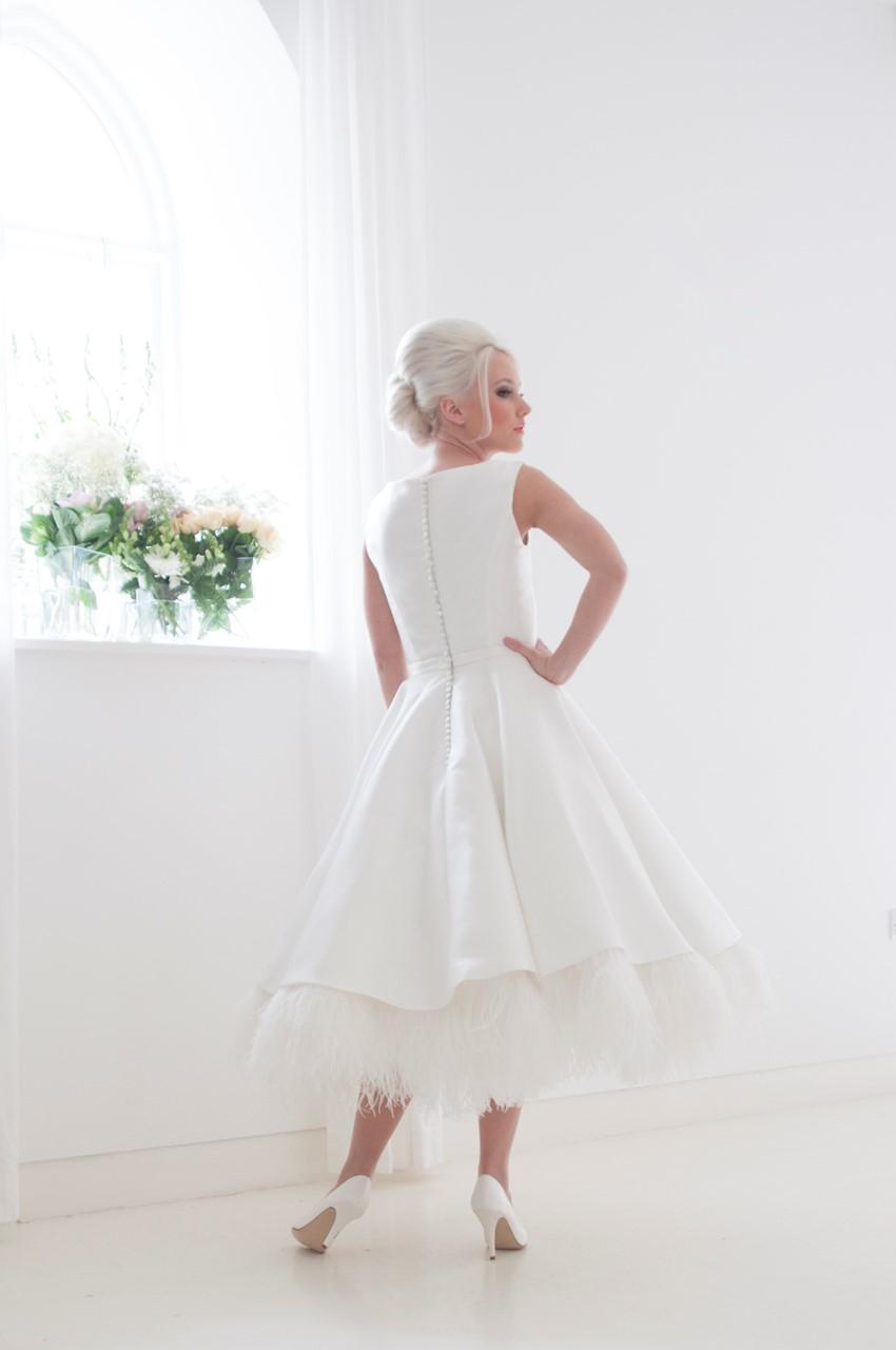 Eliza - Tea Length Wedding Dress from House of Mooshki's 2016 Bridal Collection