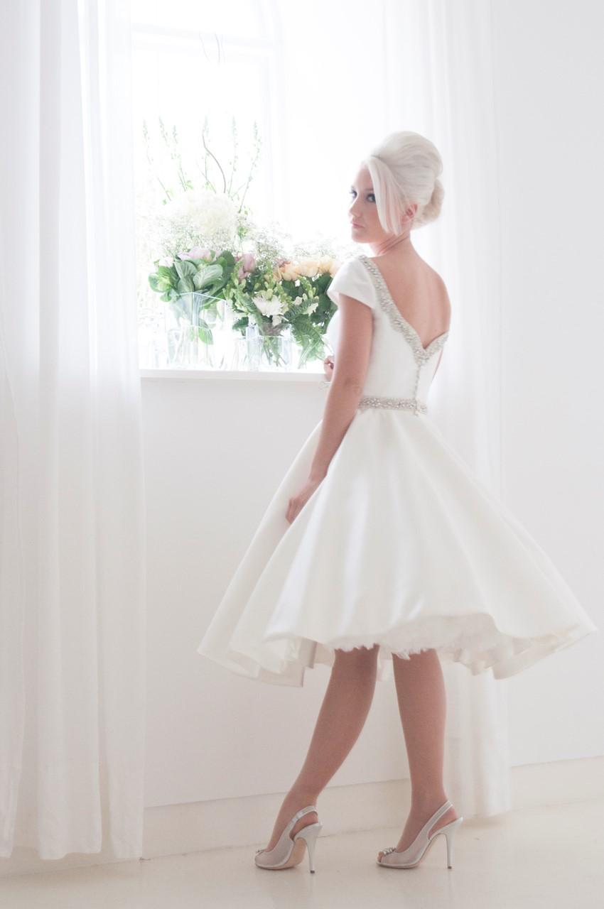 Phoebe - Tea Length Wedding Dress from House of Mooshki's 2016 Bridal Collection