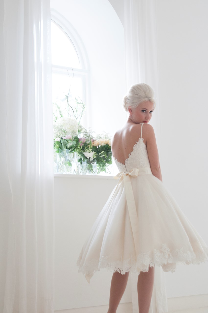 Tilly - Tea Length Wedding Dress from House of Mooshki's 2016 Bridal Collection