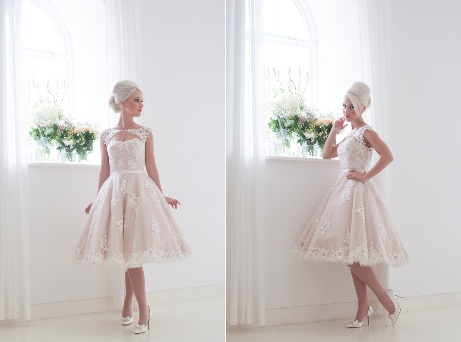 Leonora - Tea Length Wedding Dress from House of Mooshki's 2016 Bridal Collection