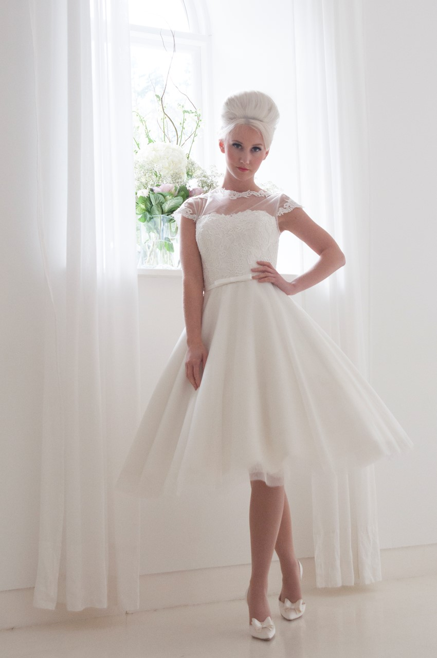 Peonie - Tea Length Wedding Dress from House of Mooshki's 2016 Bridal Collection