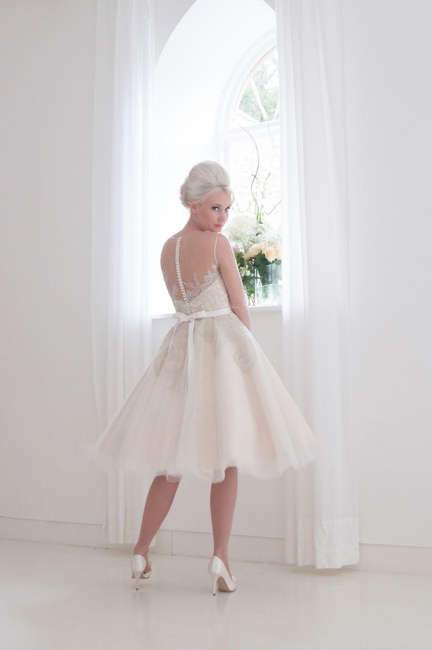 Violet - Tea Length Wedding Dress from House of Mooshki's 2016 Bridal Collection