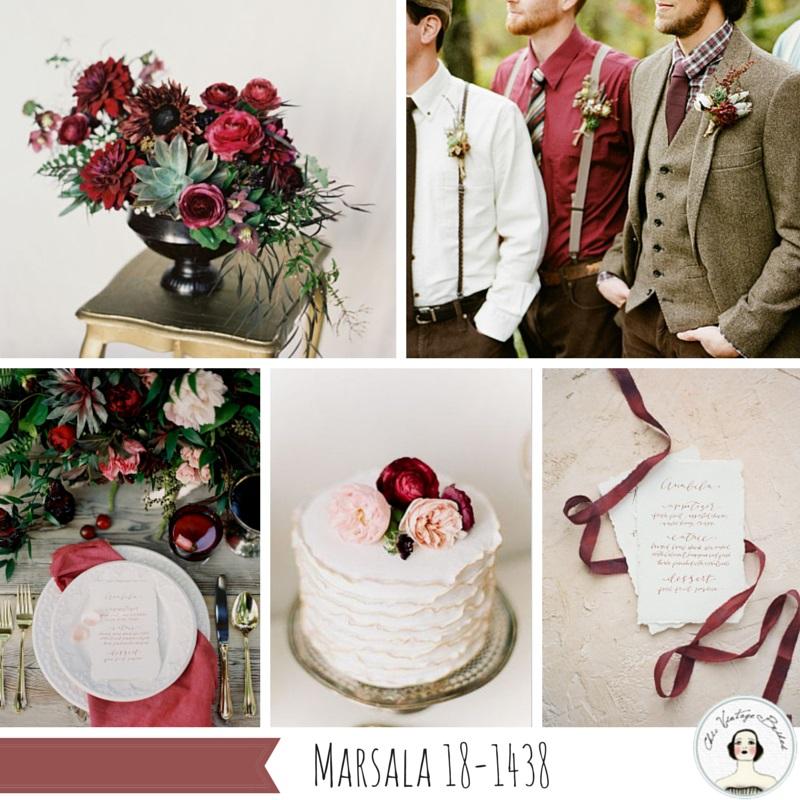 Fall 2015 Wedding Colours - Marsala