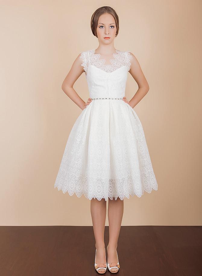 2017 Mini Short Lace Wedding Dress New Arrival Satin Short Wedding