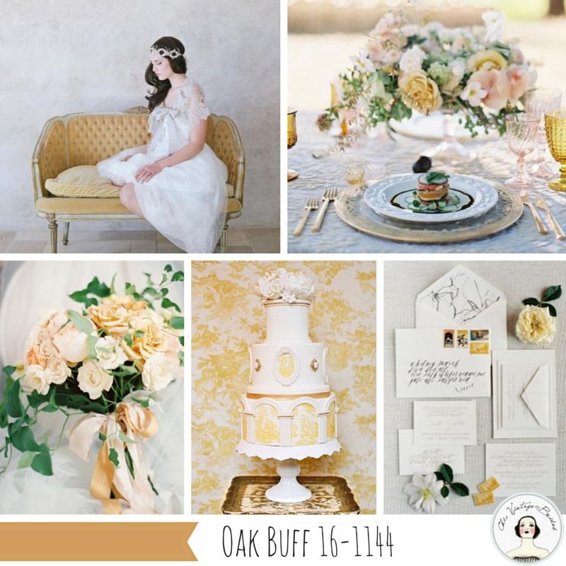 Oak Buff Yellow Fall 2015 Wedding Colour Palette