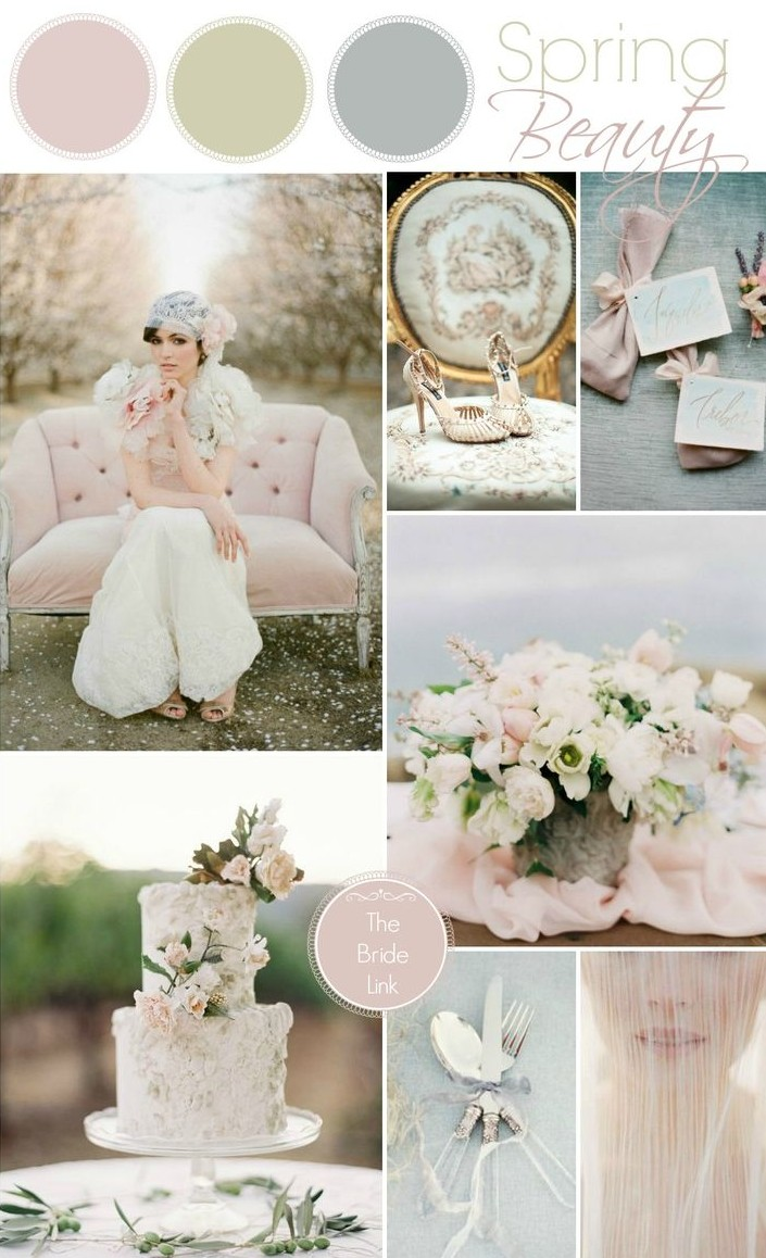 A Pretty Spring Wedding Colour Palette