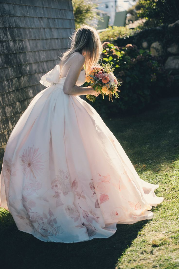 A Suitably Springtime Wedding Dress