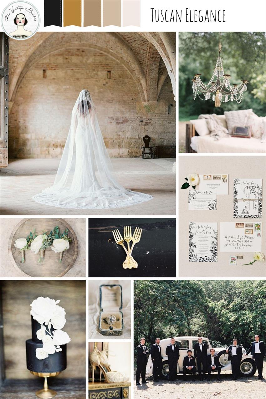 Tuscan Elegance Wedding Inspiration Board