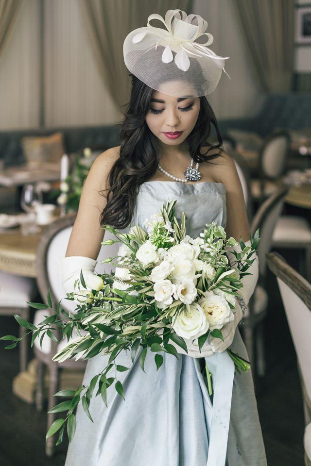 Beautiful Blue Vintage Dior Wedding Inspiration