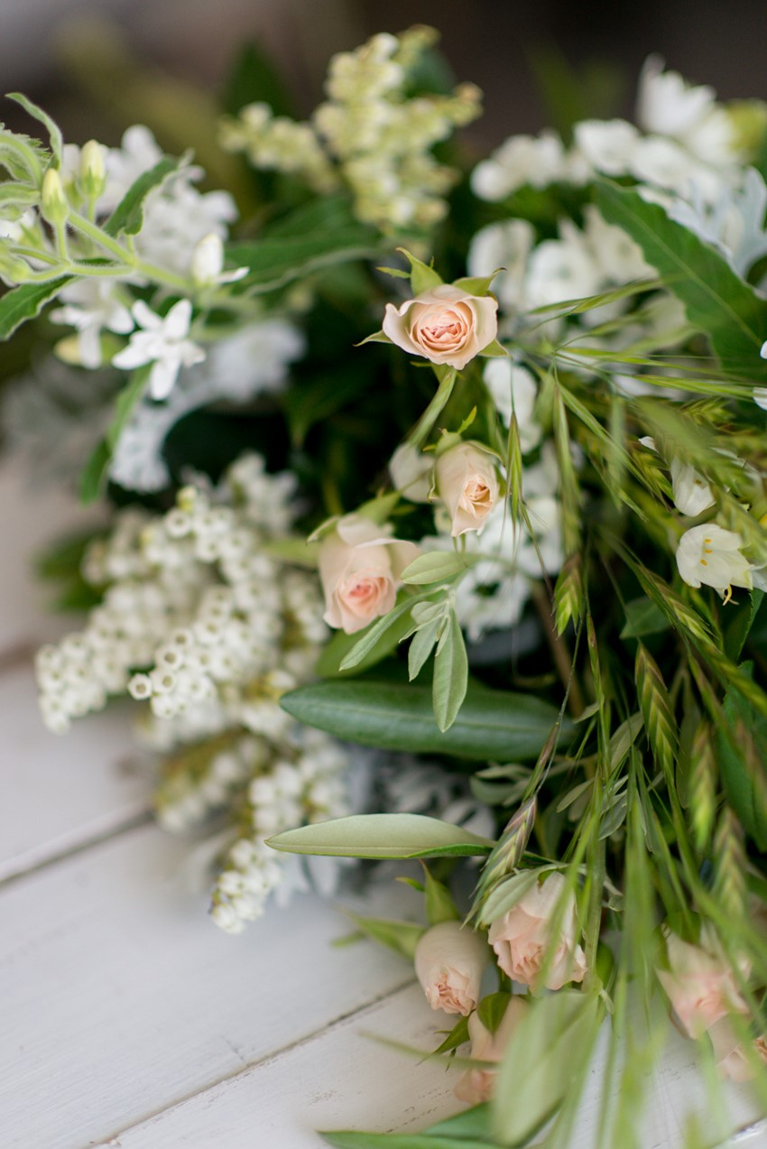 Wedding Bouquet Recipe ~ A Stunning Sheath Bouquet of Country Garden Blooms