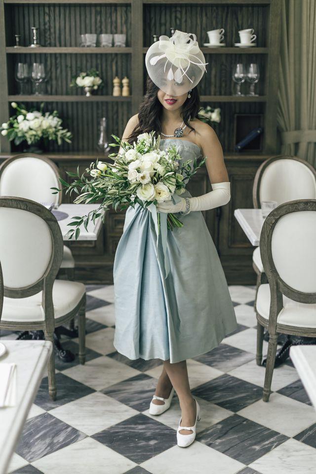 Vintage Dior & Dusky Blue Wedding Ideas