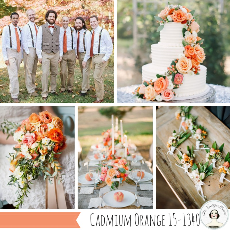 Cadmium Orange - One of the Top 10 Autumn 2015 wedding colours from Pantone