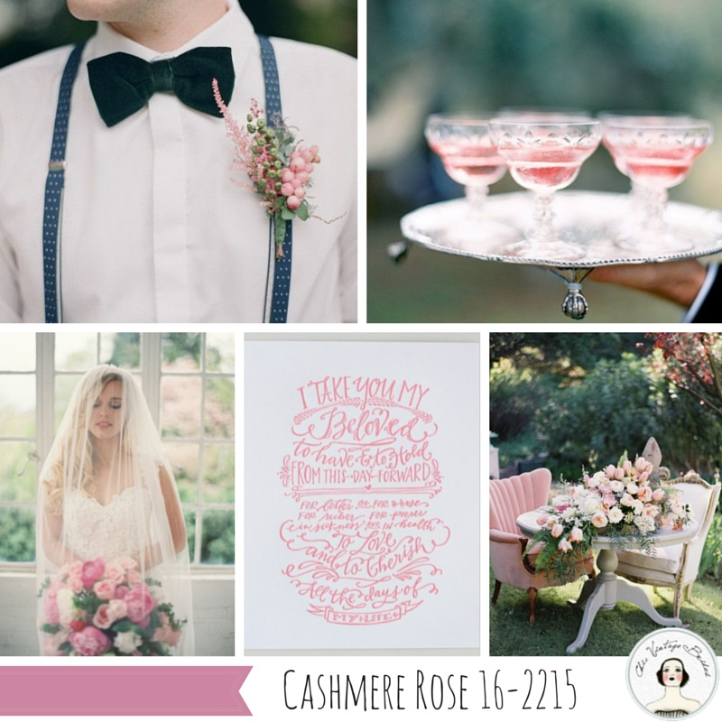 Cashmere Rose - One of the Top 10 Autumn 2015 wedding colours from Pantone