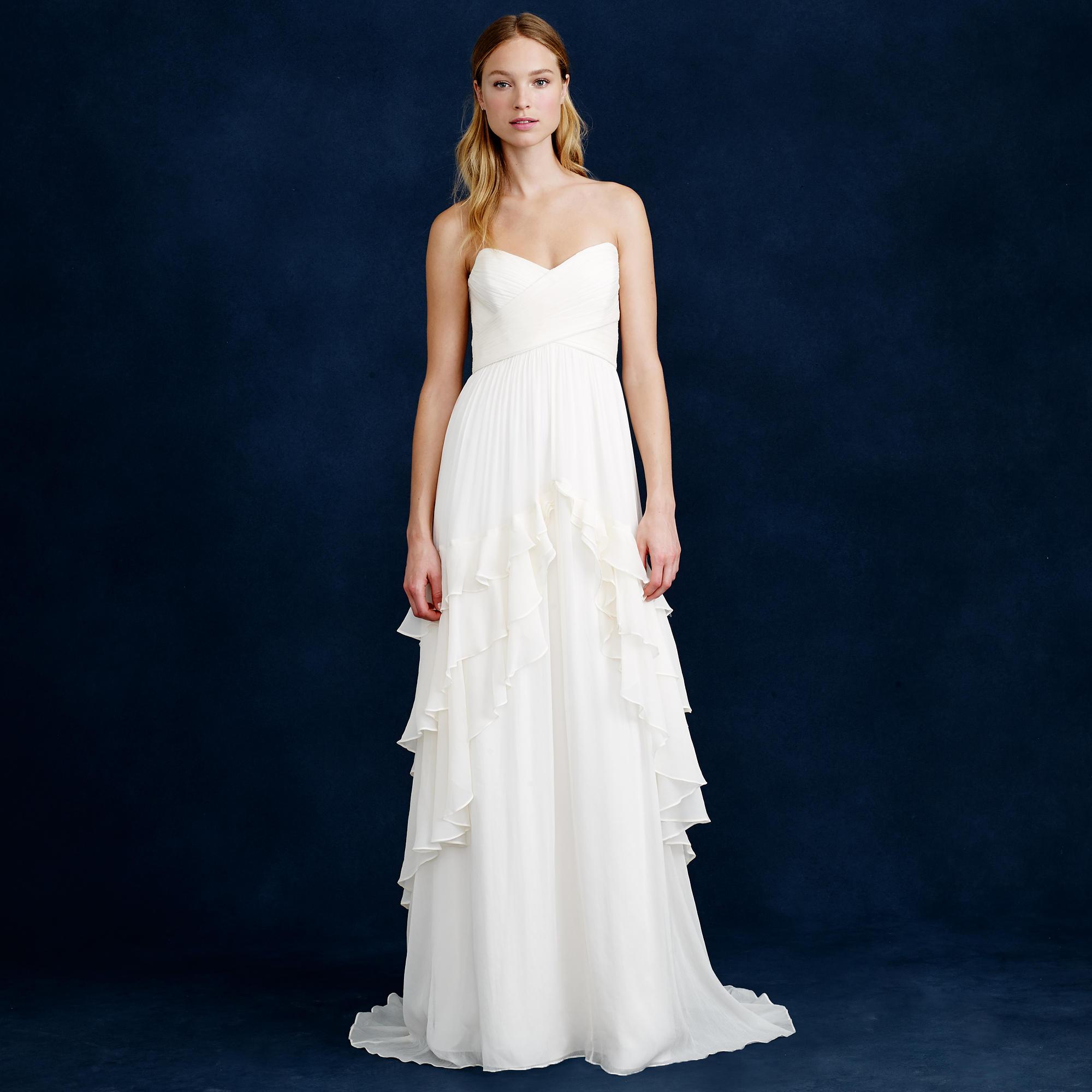 Ruffled Wedding Dress Under $1000