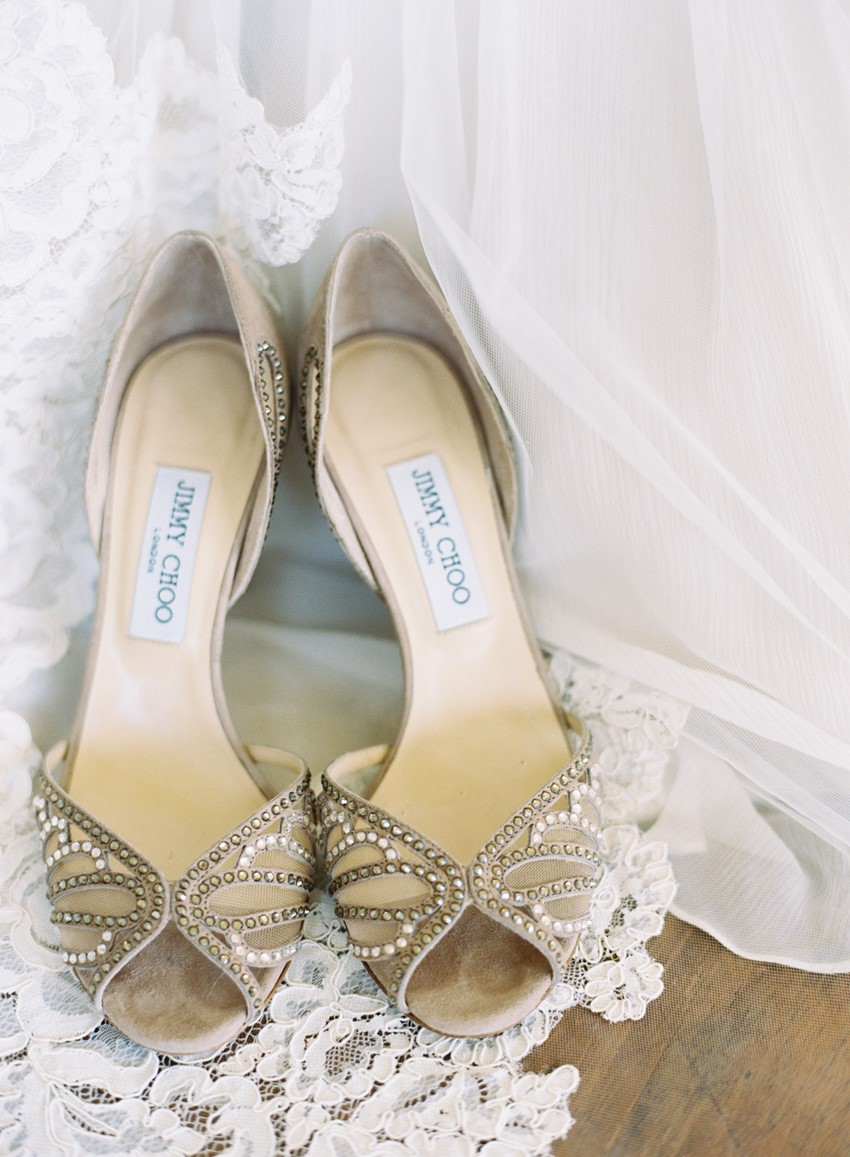 Bridal Shoes - An Elegant & Intimate Autumn Wedding