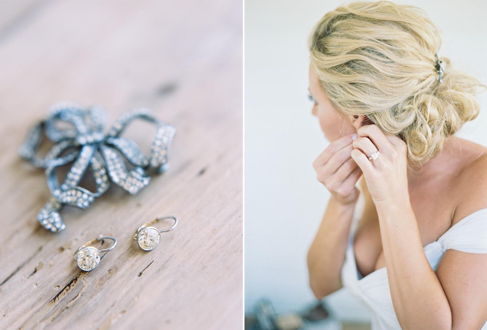 Bridal Jewelry - An Elegant & Intimate Autumn Wedding