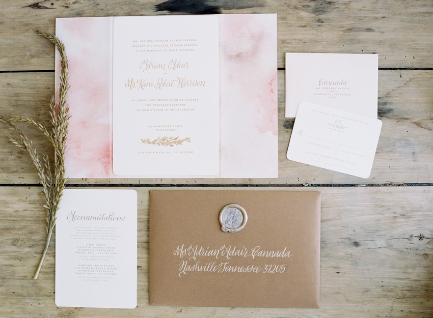 Elegant Wedding Invitations - An Elegant & Intimate Autumn Wedding