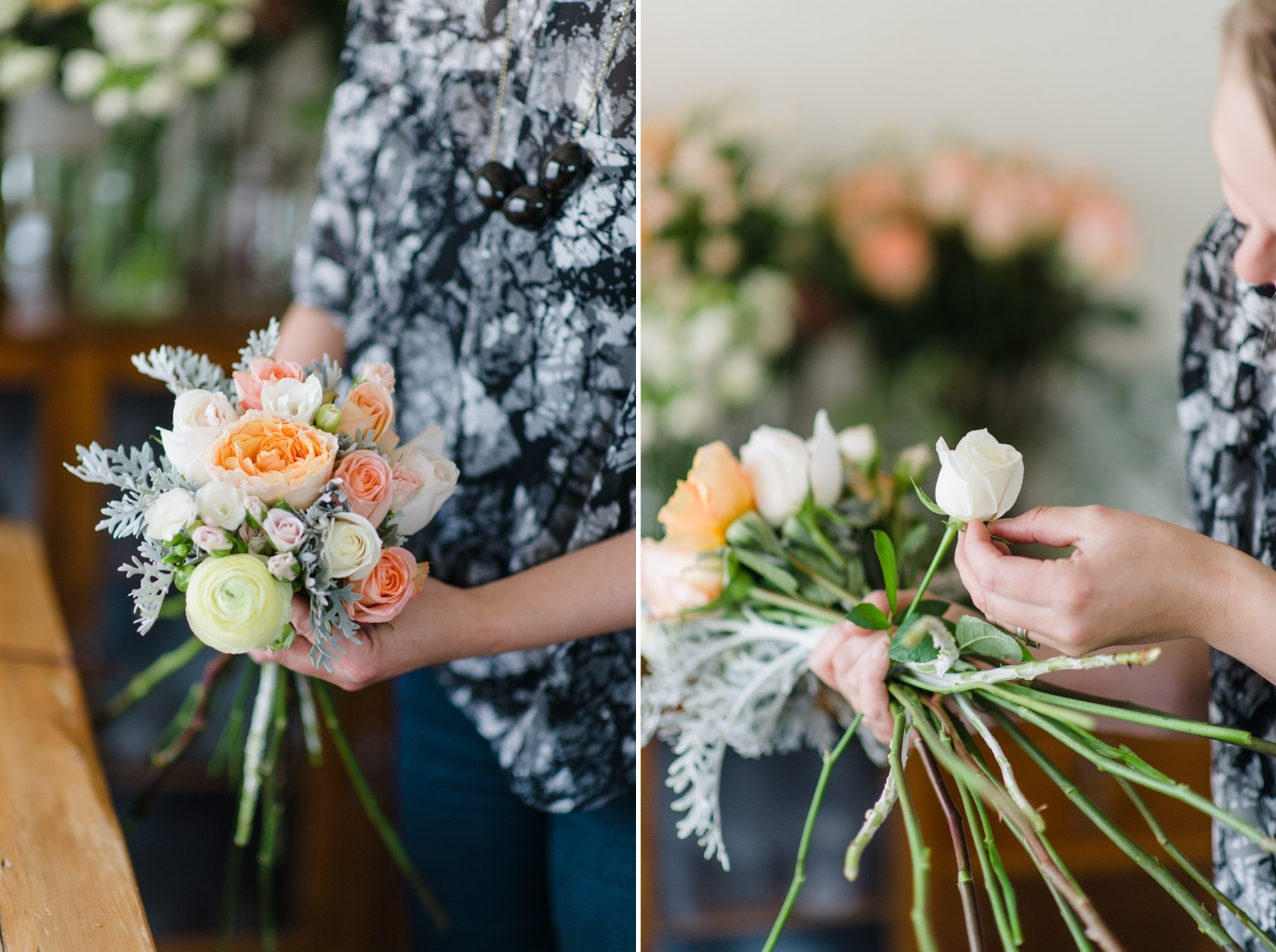 Wedding Bouquet Recipe ~ A Pretty Spring Bouquet of Roses