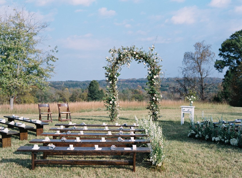 Outdoor Wedding Ceremony - An Elegant & Intimate Autumn Wedding