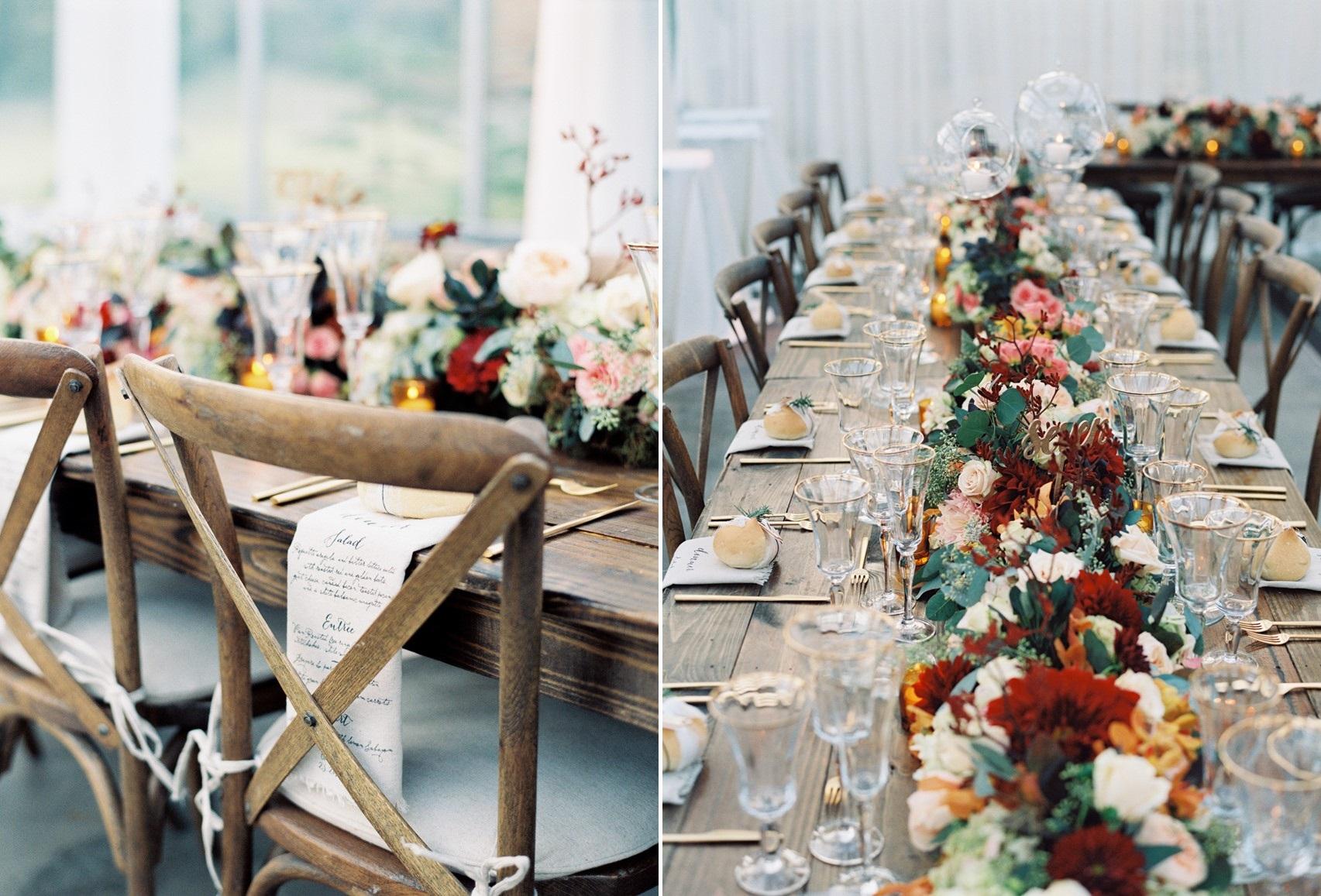 Autumn Wedding Tablescape - An Elegant & Intimate Autumn Wedding