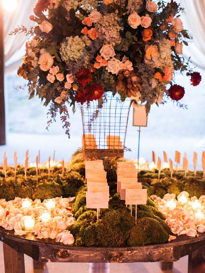 Escort Cards - An Elegant & Intimate Autumn Wedding