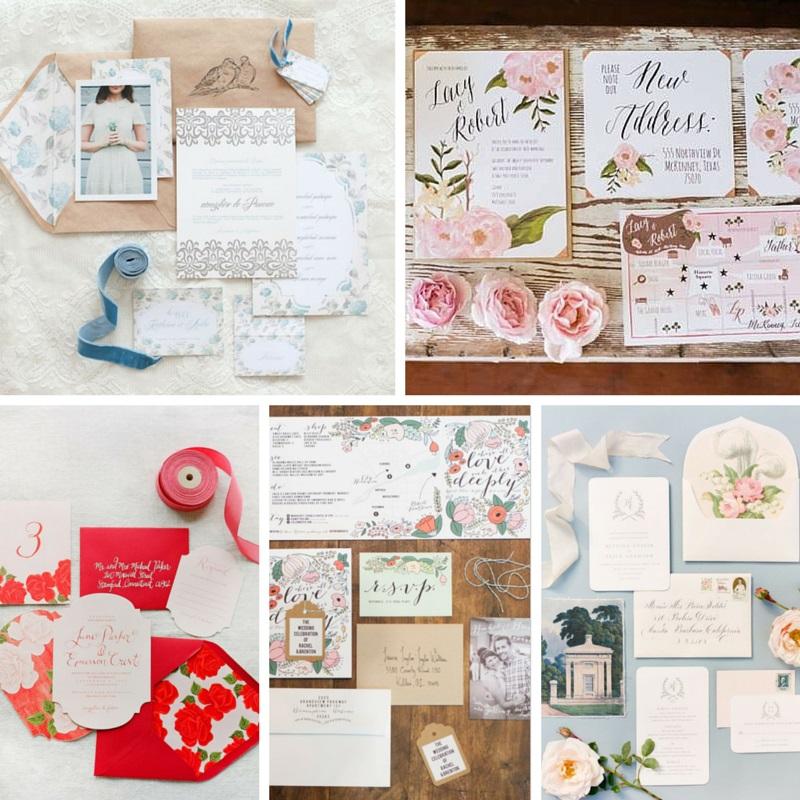 5 Gorgeous Summer Rose Wedding Invitations