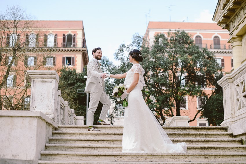 Elegant 1920s Wedding Inspiration in the Heart of Rome