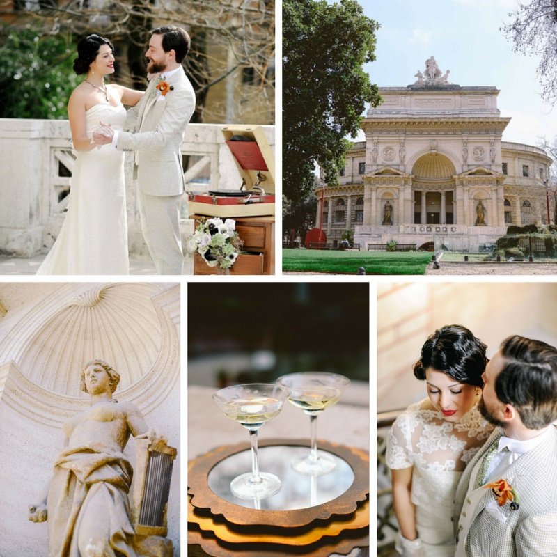 1920s Vintage Wedding Ideas: Elegant Gatsby Wedding Ideas In The Heart Of Rome : Chic