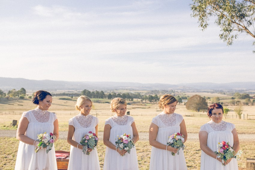 A Rustic Australian Wedding with a Stunning Outdoor Ceremony