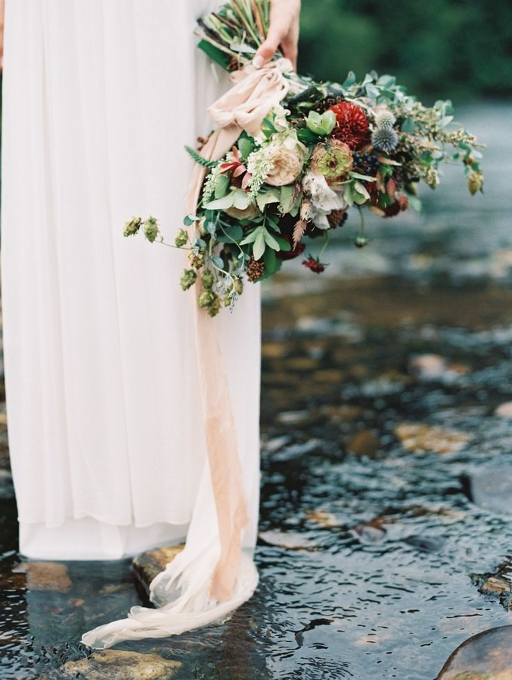 Wedding Bouquet Recipe ~ A Just-Picked Summer Bridal Bouquet in Marsala