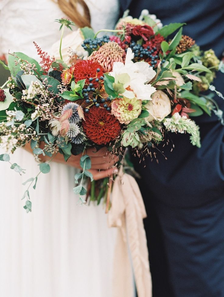 Wedding Bouquet Recipe A Just Picked Summer Bridal In Marsala