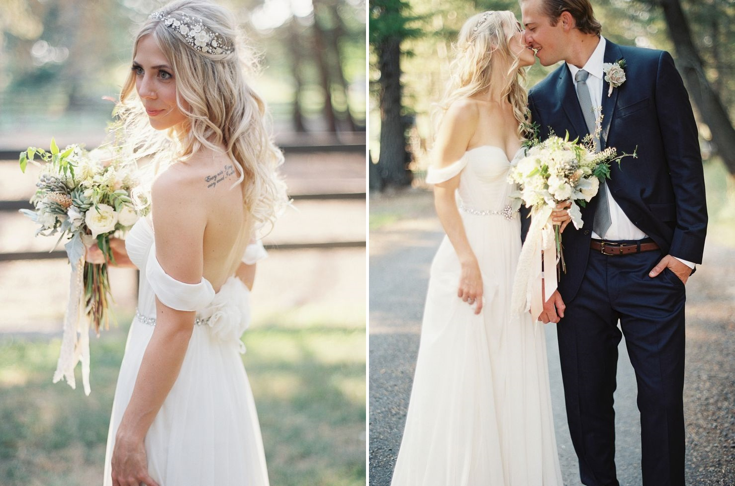 The Most Perfect Wedding Dresses for Summer Brides - Off Shoulder