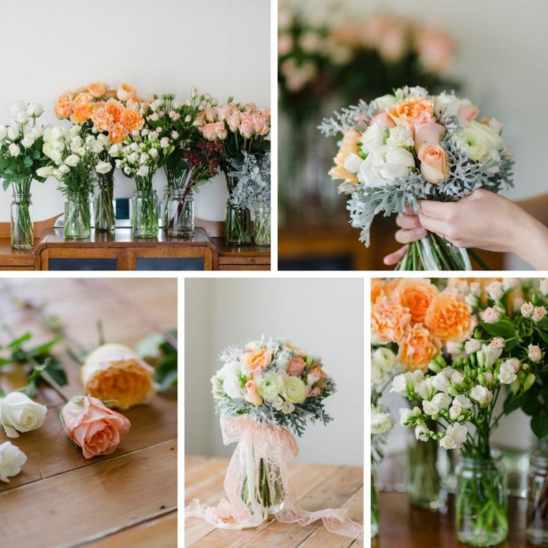 Wedding Bouquet Recipe ~ A Pretty Spring Posy of Roses