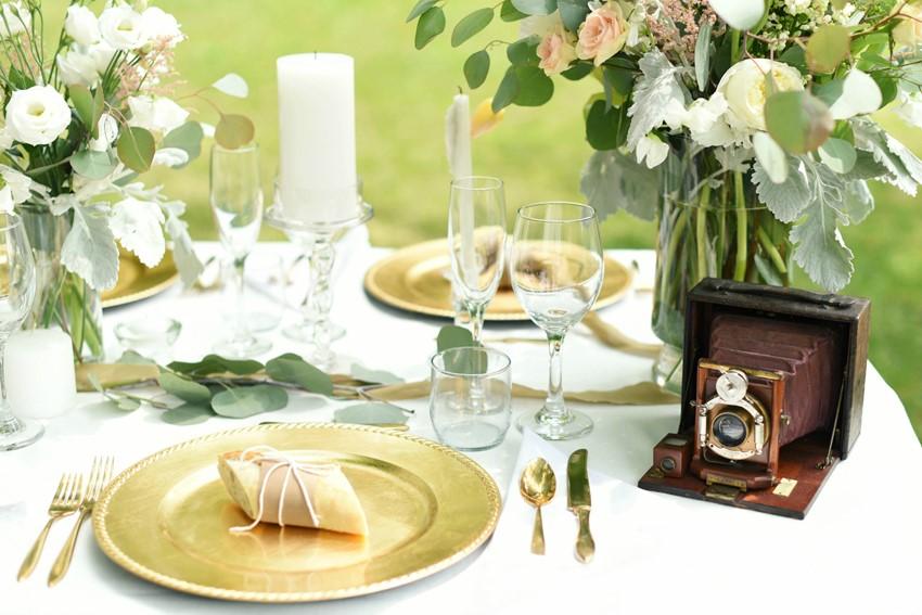 "Vintage Wedding Place Setting - ""A Lifetime of Love"" Wedding Inspiration"