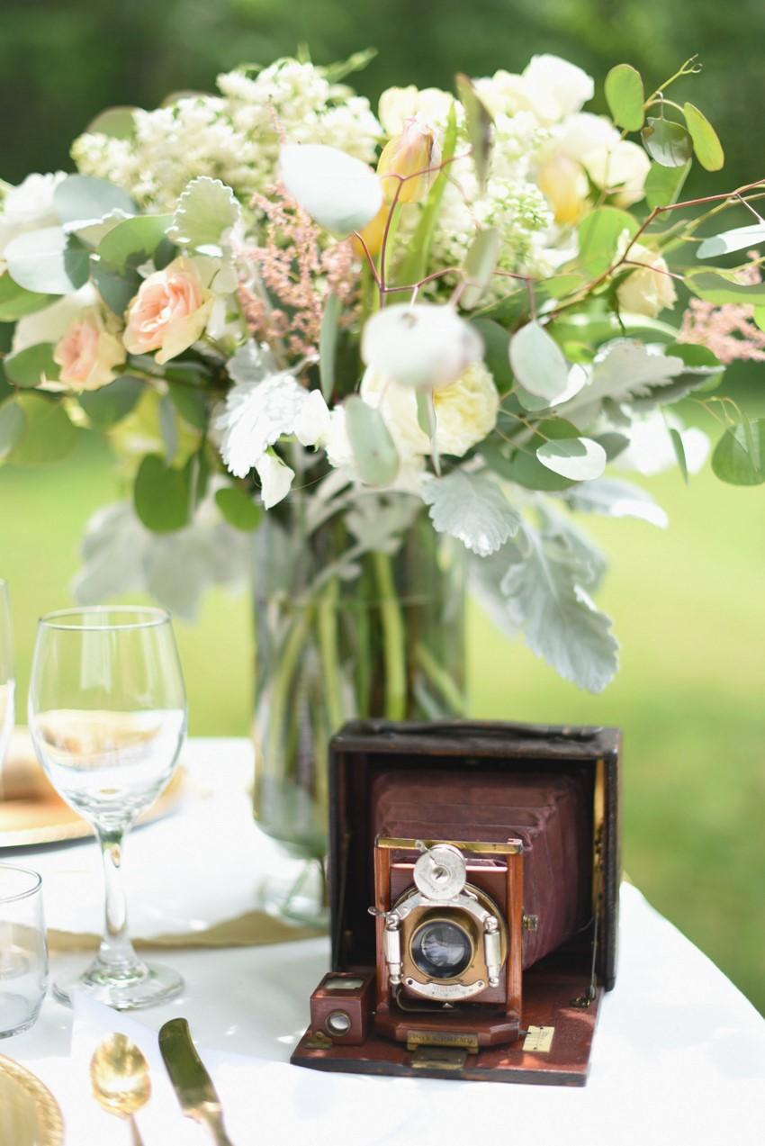 "Vintage Camera - ""A Lifetime of Love"" Wedding Inspiration"