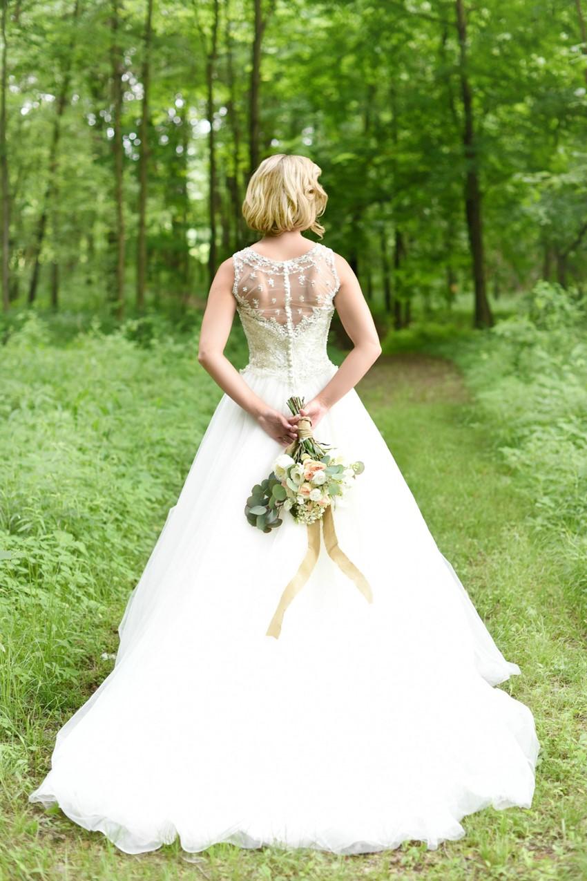 "Portrait Back Wedding Dress - ""A Lifetime of Love"" Wedding Inspiration"