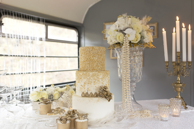 Vintage Wedding Ideas in Ivory & Gold Inspired by the 1930s