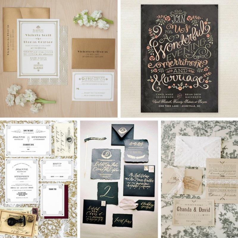 20 Decadent Art Deco Wedding Invitations