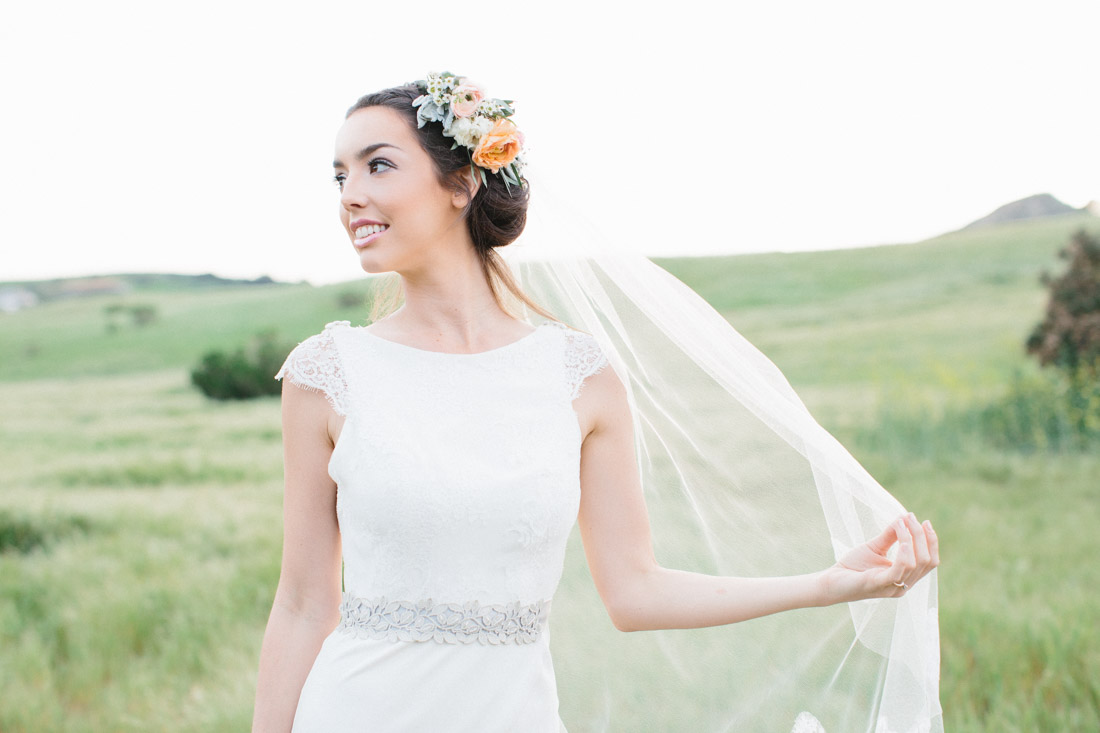 "Vintage Lace Wedding Dress - ""Fields of Love"" Summer Wedding Inspiration"