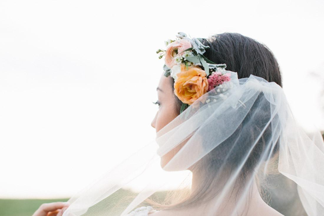 "Vintage Lace Wedding Dress - ""Fields of Love"" Summer Wedding Inspiration"
