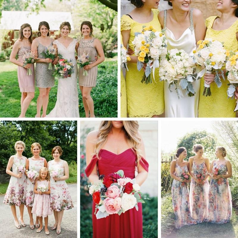5 Stunning Modern Vintage Summer Bridesmaids Looks