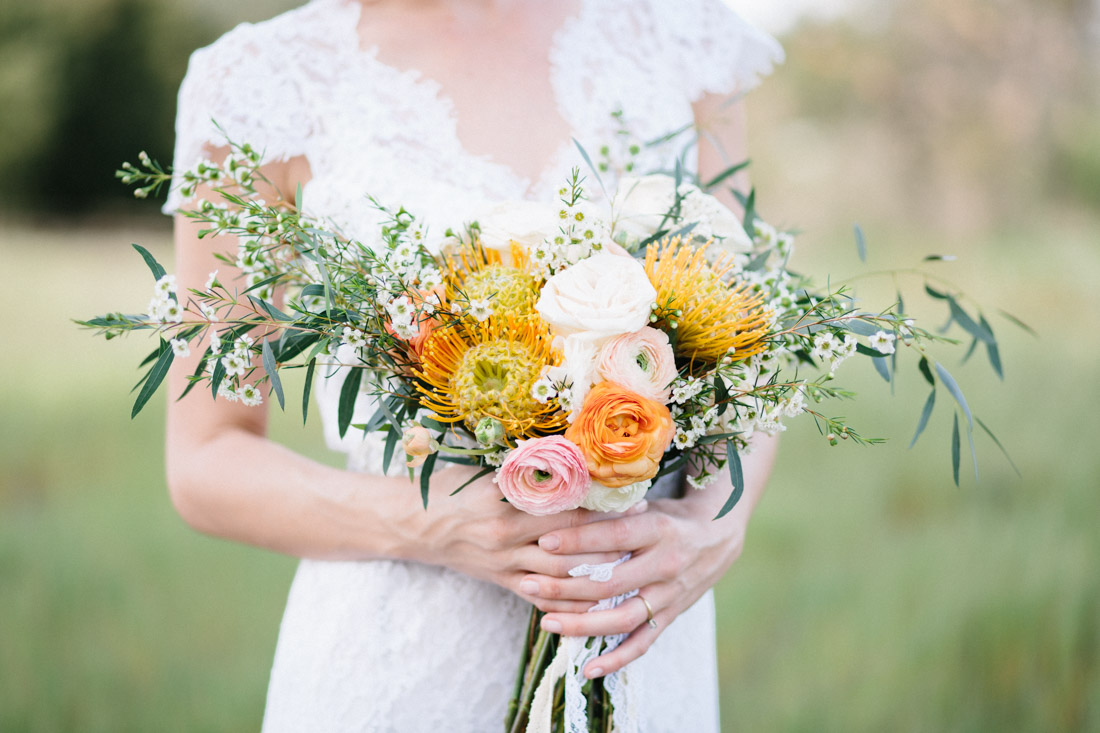 "Summer Bridal Bouquet - ""Fields of Love"" Summer Wedding Inspiration"