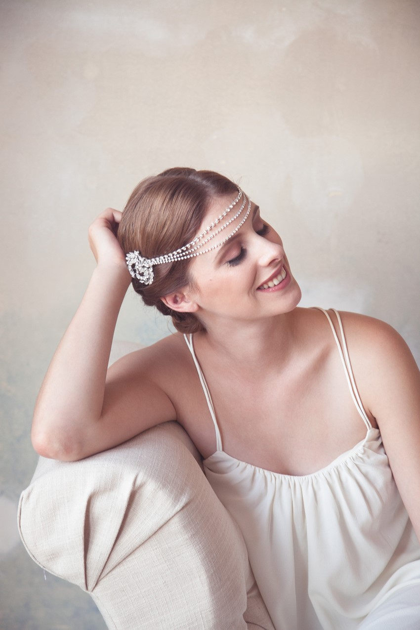 The Perfect Flapper Inspired Bridal Headpiece from Gilded Shadows