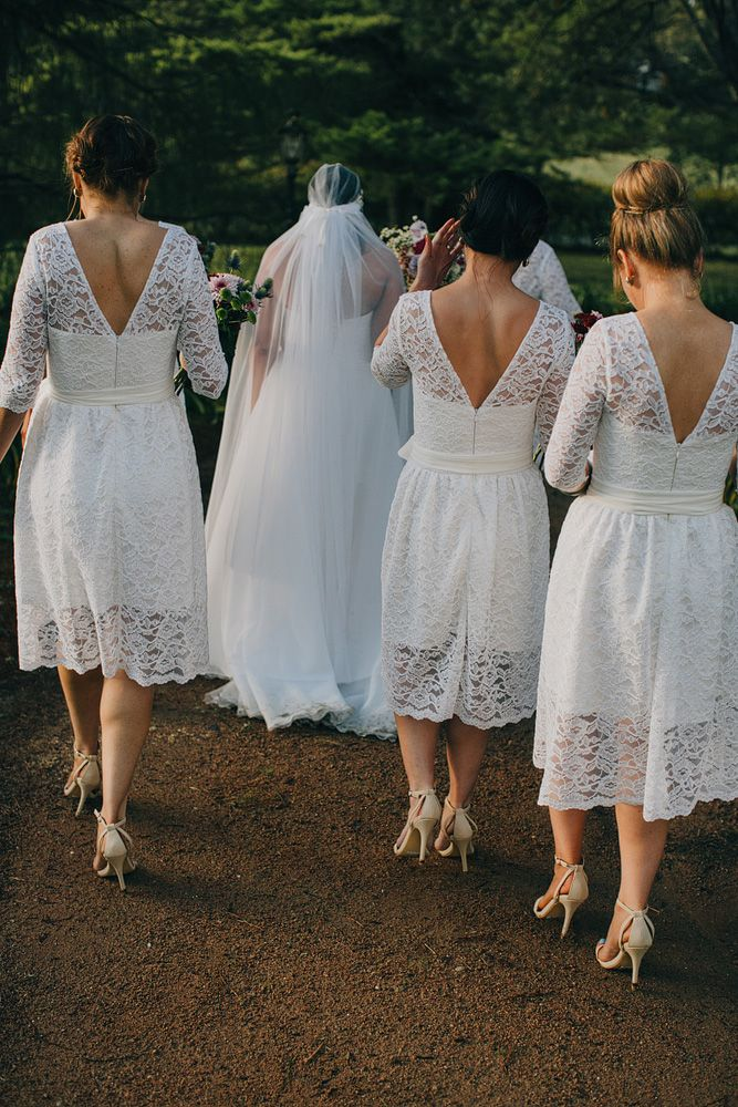 5 Stunning Modern Vintage Summer Bridesmaids Looks - Delicate Lace