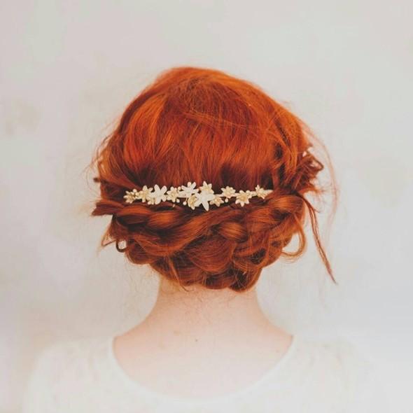 Vintage wax flower bridal headdress tiara crown circa 192030s.